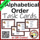 Alphabetical Order Task Cards w/ QR Codes