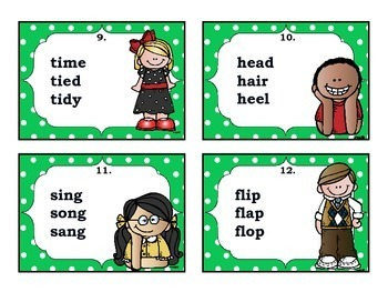 ABC Order to the 2nd, 3rd & 4th Letter Task Cards