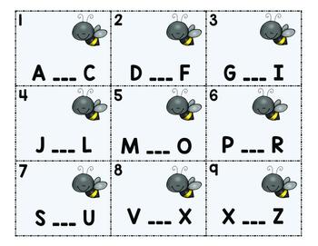 Alphabetical Order Task Cards: Help Bee Find the Missing Letter