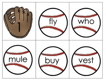 Alphabetical Order Task Cards with Baseball Theme