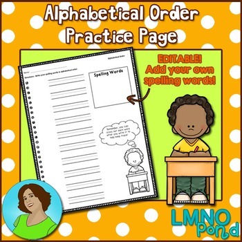 {FREE} Alphabetical Order Template