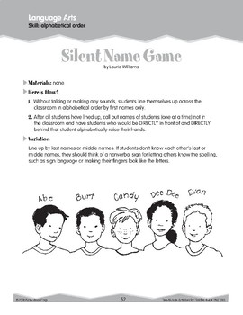 Alphabetical Order (Ten-Minute Activities)