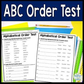 Alphabetical Order Test (2-Page ABC Order Quiz)
