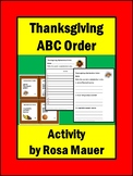Alphabetical ABC Order Thanksgiving Activities for Kids