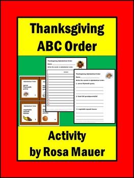 Alphabetical Order Thanksgiving
