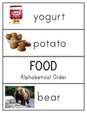 Alphabetical Order Topic Cards