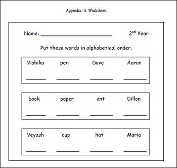 Alphabetical Order Unit Plan