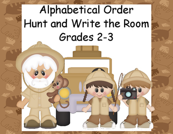Alphabetical Order-Up to the Third Letter-Grades 2-3-Write the Room