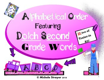 Alphabetical Order Using Second Grade Dolch Words