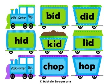 ABC Order Short Vowel Word Families