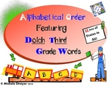 Alphabetical Order Using Third Grade Dolch Words