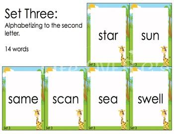 "Alphabetical Order ""War"" Card Game Center"