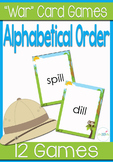 "Alphabetical Order ""War"" Card Game Center"