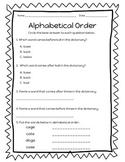 Alphabetical Order - Worksheets