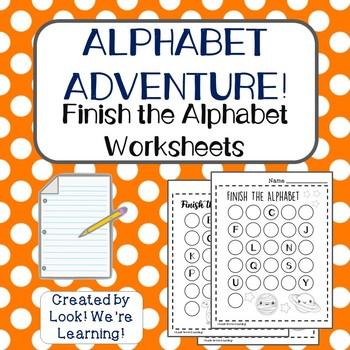Alphabetical Order Worksheets: Finish the Alphabet!