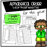 Alphabetical Order Worksheets For the Year
