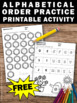 FREE Alphabetic Order Worksheets Kindergarten Alphabet Activities Coloring Pages