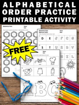 FREE Alphabetic Order Worksheets Kindergarten