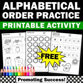 FREE Download Alphabetical Order Worksheets ESL Speech The