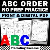 Kindergarten Alphabetical Order Worksheets Upper and Lower Case Letters