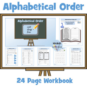 Alphabetical Order Worksheets to 2nd and 3rd letter by Inspire and ...