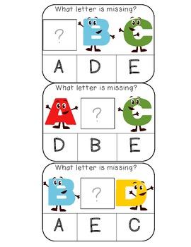 Alphabetical Order clothespin activity cards