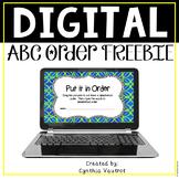 Alphabetical Order Digital Product for Google Slides