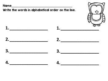 Alphabetical Order with CVC words!