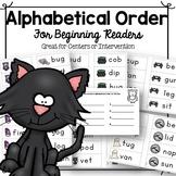 Halloween Alphabetical Order with CVC words!