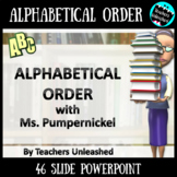 Alphabetical Order PowerPoint Lesson