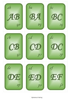 Alphabetical Ordering Game