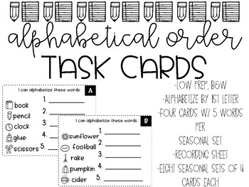 Alphabetical Task Cards