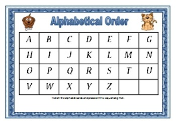 Alphabetical and Numerical Order