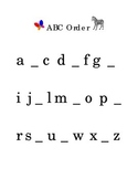 Alphabetical order ABC's Fill in the Blank Reading Kindergarten Printable
