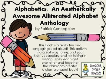 Alphabetics by P. Concepcion ~ Using the Book to Make a Class Alphabet Book