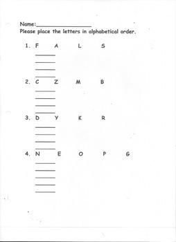 Alphabetize Letters