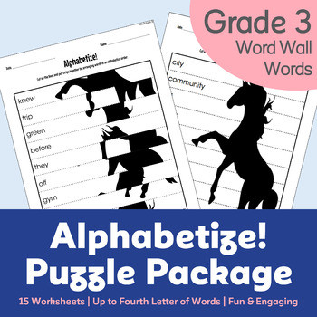 Alphabetize! Puzzle Package (with Gr. 3 Word Wall Words) -