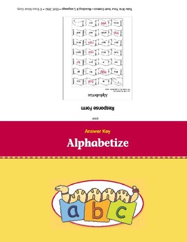 Alphabetize (Take It to Your Seat Centers)