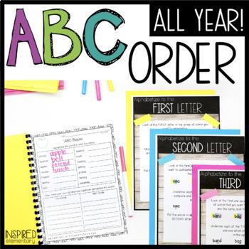 ABC Order: Alphabetizing Activities Through the Year!