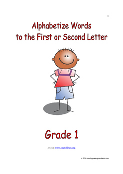 Alphabetize Words to the First or Second Letter: Introduce/Practice/Assess