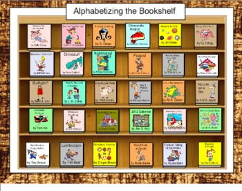 Alphabetize the Bookshelf for SMART Board