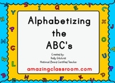 Alphabetizing ABC's, Words, & Pictures Alphabetical Order SMART Notebook Lesson