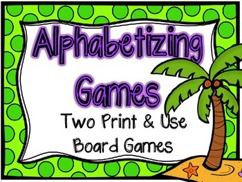 Alphabetizing Board Games-Grades 3-5