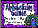 Alphabetizing Board Games-Grades 3-5 Set Two