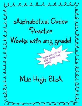 Alphabetizing Practice Bundle