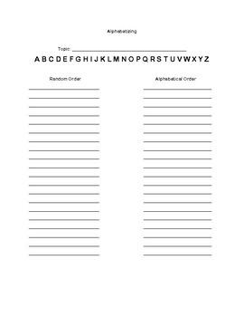 Alphabetizing School Supplies