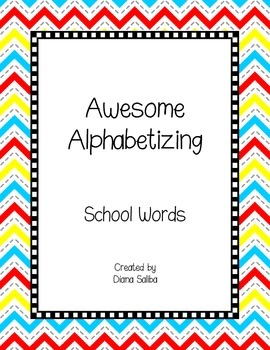 ABC Order- School Words