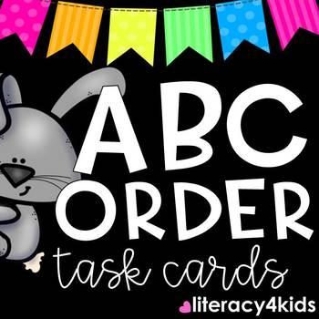Alphabetizing Task Cards (Spring)
