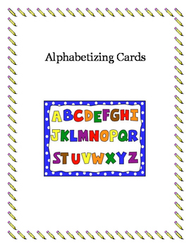 Alphabetizing Word Cards