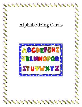 Alphabetizing Word Cards